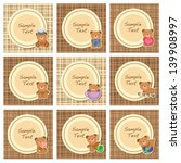 brown teddy layout b | Shutterstock .eps vector #139908997
