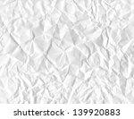 wrinkled paper. vector eps 8 | Shutterstock .eps vector #139920883