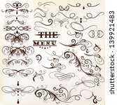 vector set of calligraphic... | Shutterstock .eps vector #139921483