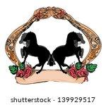 abstract vintage horses logo | Shutterstock .eps vector #139929517