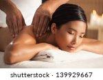asian woman enjoying a back... | Shutterstock . vector #139929667