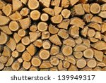 pile of wood logs  structured... | Shutterstock . vector #139949317