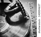 close up at vintage gramophone....   Shutterstock . vector #140004637