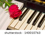 red rose with notes paper on...   Shutterstock . vector #140010763