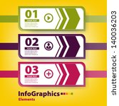 modern infographic template for ... | Shutterstock .eps vector #140036203
