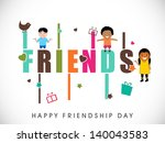 happy friendship day background ... | Shutterstock .eps vector #140043583