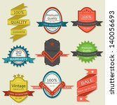 vintage label badge vector | Shutterstock .eps vector #140056693