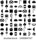 candy vector icons set | Shutterstock .eps vector #140084767