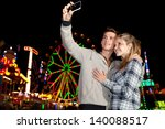 teenager couple using a... | Shutterstock . vector #140088517