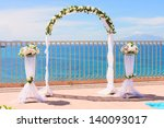 Wedding Arch And Set Up By The...