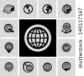globe icons set  | Shutterstock .eps vector #140117167