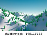 a winter scene of a snowy fir... | Shutterstock . vector #140119183