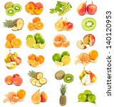 set of fruits isolated on white ... | Shutterstock . vector #140120953