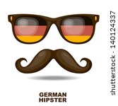 sunglasses and moustaches.... | Shutterstock .eps vector #140124337