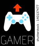 vector minimal design   gamer  | Shutterstock .eps vector #140137477