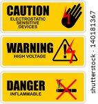 warning  icon vector | Shutterstock .eps vector #140181367