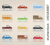 set of icons of cars  vector... | Shutterstock .eps vector #140183887