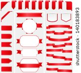 collection of red ribbons ... | Shutterstock .eps vector #140183893