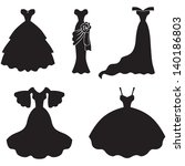 set of silhouette images of...   Shutterstock .eps vector #140186803