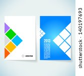 brochure cover design vector... | Shutterstock .eps vector #140197693