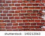 red brown old bricks texture ... | Shutterstock . vector #140212063