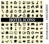 hotel icons | Shutterstock .eps vector #140218003