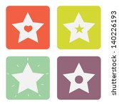set of different stars in... | Shutterstock .eps vector #140226193
