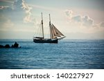 the ship sails at sea | Shutterstock . vector #140227927