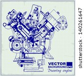 drawing old engine on graph... | Shutterstock .eps vector #140261647