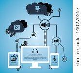 info cloud system   Shutterstock .eps vector #140270257