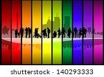 family silhouette walking in... | Shutterstock .eps vector #140293333
