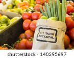 fresh produce on sale at the... | Shutterstock . vector #140295697