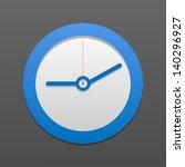 vector clock icon. eps10