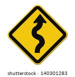traffic sign zigzag isolate on... | Shutterstock . vector #140301283