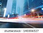 moving car with blur light... | Shutterstock . vector #140306527
