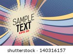 retro background with stripes... | Shutterstock .eps vector #140316157