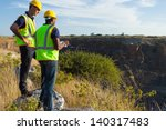 two male surveyors working at... | Shutterstock . vector #140317483