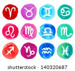 watercolor zodiac icon set ... | Shutterstock .eps vector #140320687