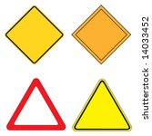 set of 4 warning sign vector... | Shutterstock .eps vector #14033452