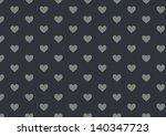blue hearts pattern | Shutterstock . vector #140347723