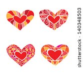 set of hearts | Shutterstock .eps vector #140348503