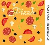 pizza menu template vector...   Shutterstock .eps vector #140351923