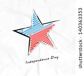 4th july  american independence ... | Shutterstock .eps vector #140363353