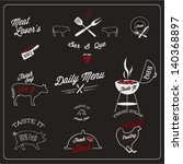 set of bbq labels set | Shutterstock .eps vector #140368897