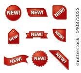 new label and sticker set | Shutterstock .eps vector #140372023