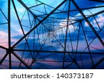 high voltage post.high voltage... | Shutterstock . vector #140373187