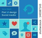 flat ui design trend social...