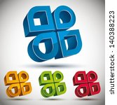 3d abstract icon with 4... | Shutterstock .eps vector #140388223
