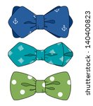 bow tie set | Shutterstock .eps vector #140400823