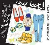 fashion accessories. | Shutterstock .eps vector #140412967